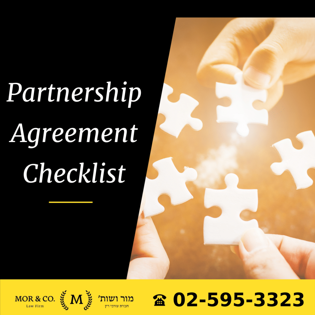 Partnership Agreement Checklist partnership agreement checklist