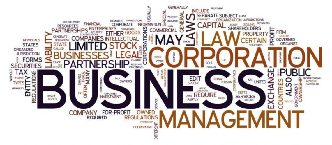 Business word concept in tag cloud