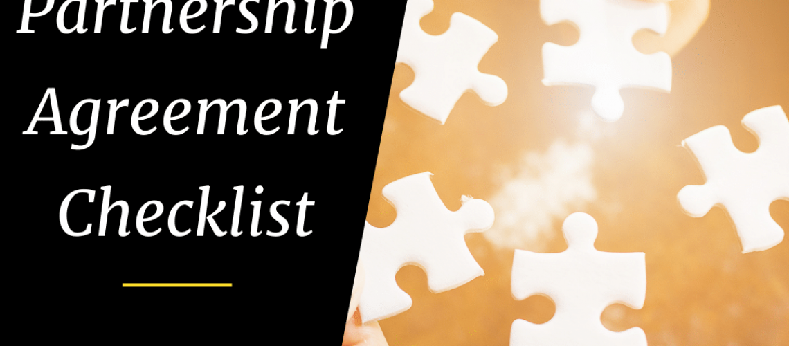 partnership agreement - checklist